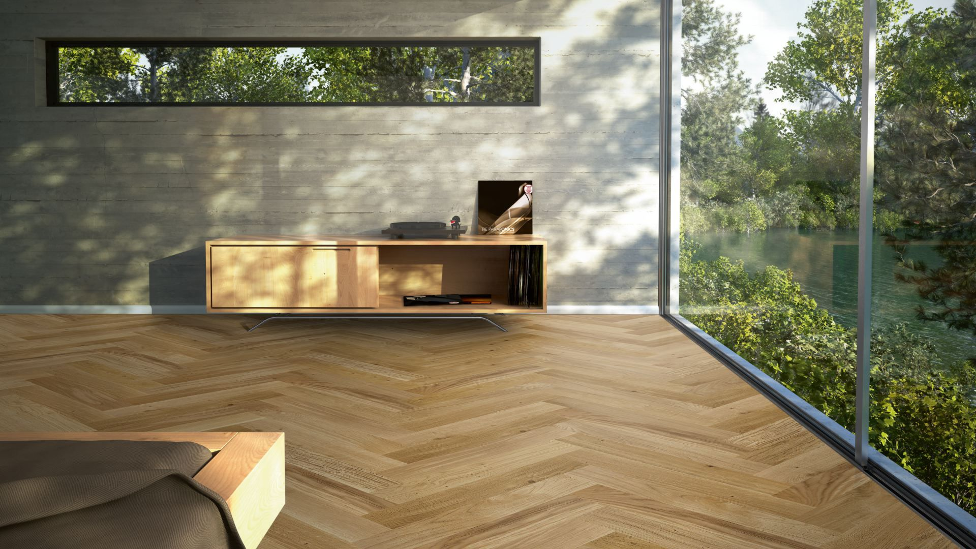Engineered Oak Herringbone - 95x570mm - Light Brown Pure Natural Oil Plus - Rustic Grade - Click Light Brown
