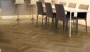 Bespoke Chevron, Smoked Dark Grain Oiled